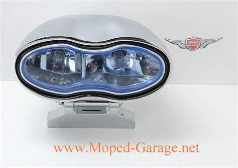 Motorrad Teile Custom by Moped Garage Net Motorrad Doppel Scheinwerfer Chrom