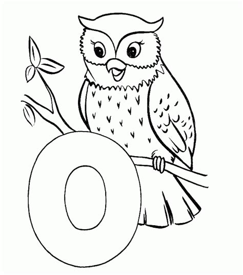 O The Owl Coloring Page by Owl Coloring Pages Coloring Home