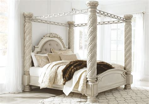 King Canopy Bedroom Set Cassimore King Canopy Bedroom Set Louisville Overstock Warehouse