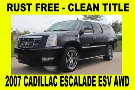 free auto repair manuals 2007 cadillac escalade esv electronic throttle control sell used 2007 cadillac escalade esv awd clean tx title rust free in houston texas united states