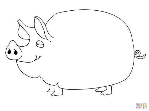 cute pig coloring online super coloring