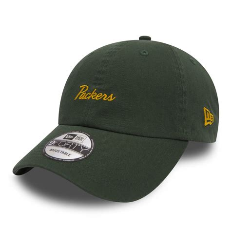 Adjustable Shoo Cap Yellow green bay packers 9forty adjustable nfl mini script green