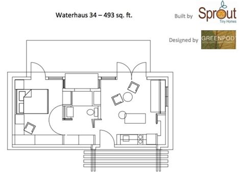 home design for 450 sq ft 450 sq ft waterhaus prefab tiny home
