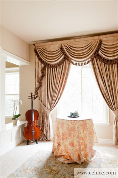 swag curtains for bedroom baroque floral swag valance window treatment traditional