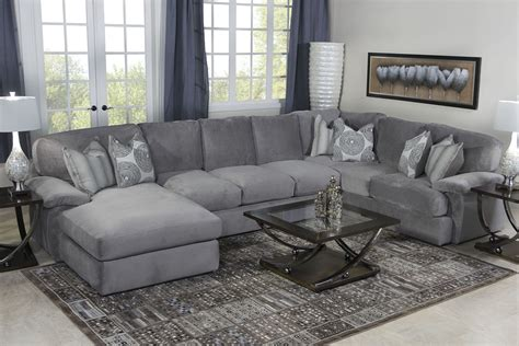 Living Room Ideas With Grey Sofas Key West Sectional Living Room In Gray Living Room Mor Furniture For Less New House Decor