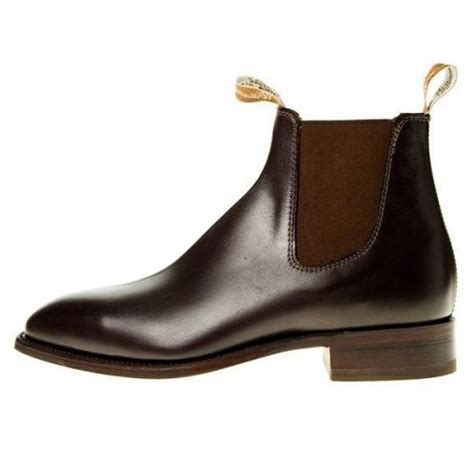 rm williams boots mens rm williams craftsman mens pull on brown leather ankle