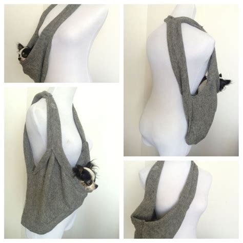 puppy carrier sling puppy pocket scarf sling pet carrier in charcoal grey by heartpup