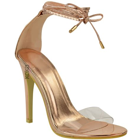 barely there sandals uk womens high heel barely there clear perspex ankle