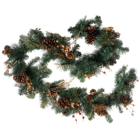 28 best garlands uk 9ft glittery bristle pine