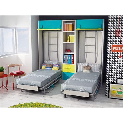 camas literas plegables dormitorios con literas abatibles verticales dobles