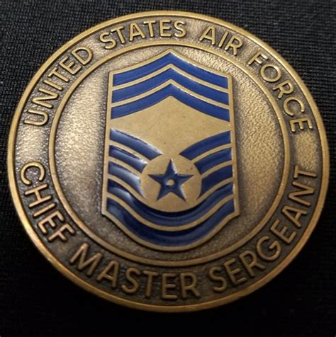 air challenge coin us air chief master sergeant challenge coin