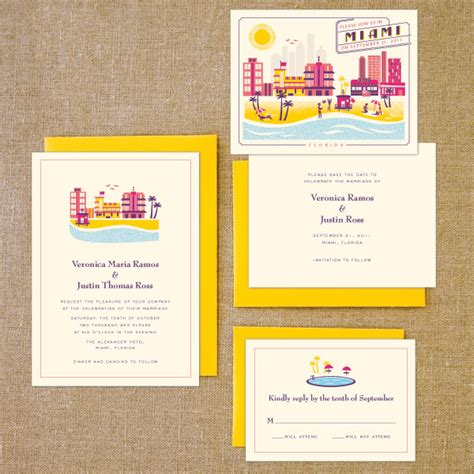Wedding Invitations Miami by Destination Wedding Invites Boston Miami And The