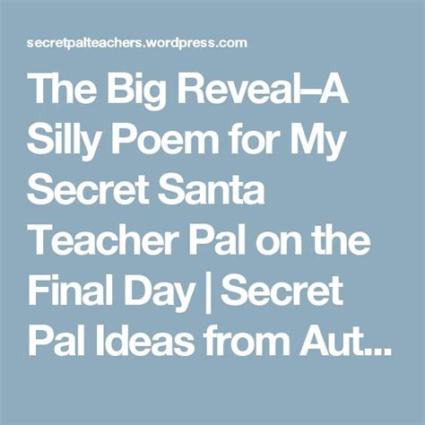 secret pal poems secret pal poems www pixshark images galleries