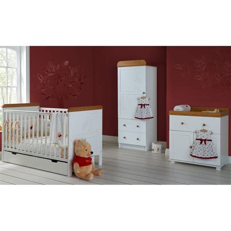 winnie the pooh nursery furniture set obaby winnie the pooh single 4 nursery furniture set