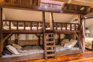 Barn Door Bunk Bed Rustic Barn Bunk Bed With Skylight Slumber At Your House The Frame And Rails Of These