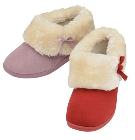 10 Slippers For The Winter by Womens Dunlop Fur Warm Slip On Bootie Slippers Flat Low