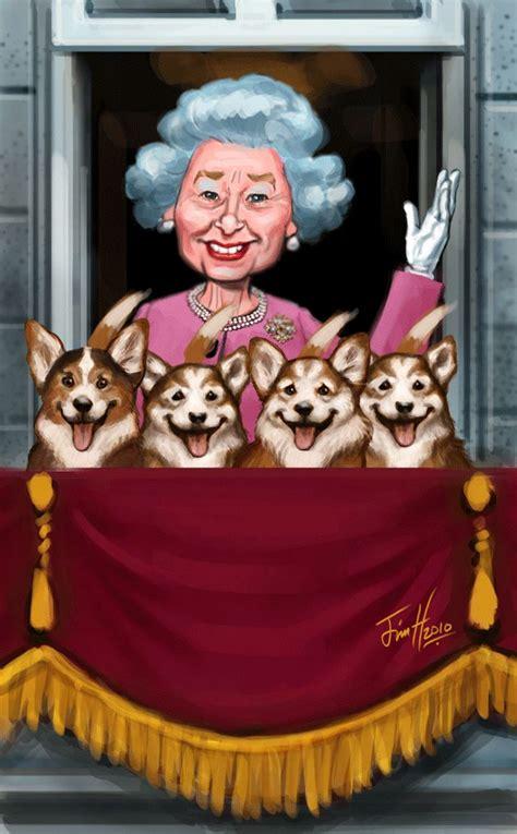 queen elizabeth ii queen art royal art caricature