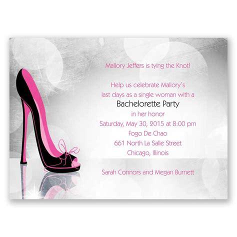 high heel shoe invitation template high heel bachelorette invitation invitations by