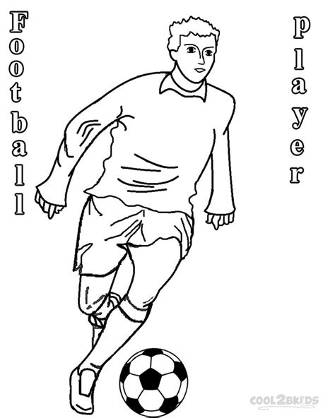 free coloring pages of football player