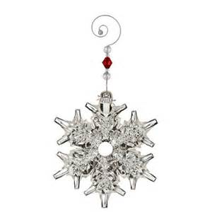 2015 waterford snow crystal pierced ornament silver