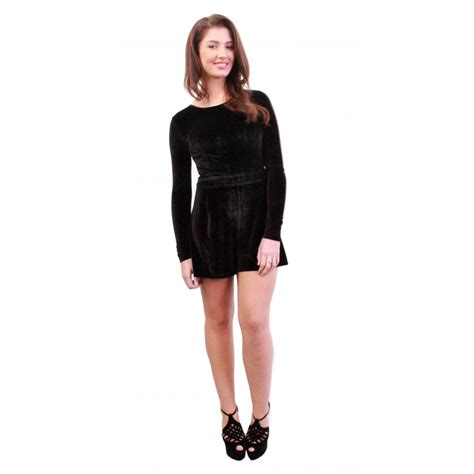 Velvet Playsuit black velvet playsuit from parisia