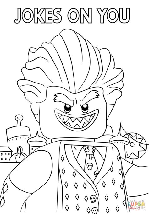 lego movie batman coloring pages jocker from the lego batman movie coloring page free