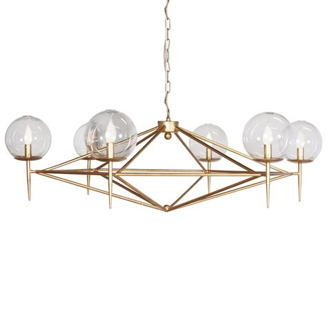 Atlanta Lighting Fixtures Geometric Gold Leaf Chandelier Kudzu And Company