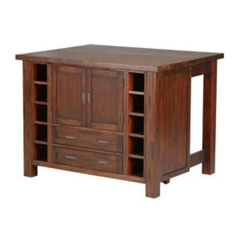 home depot kitchen island cabin creek wood drop leaf breakfast bar kitchen island 5410 94 the home depot