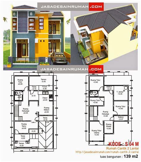 desain rumah minimalis 2 lantai dan denahnya gambar foto desain rumah