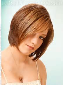 triangle bob haircut triangle layers brunette straight look