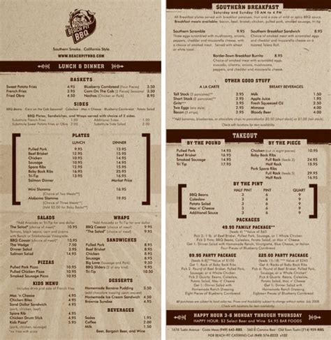 pit restaurant menu 45 best images about menu design on java