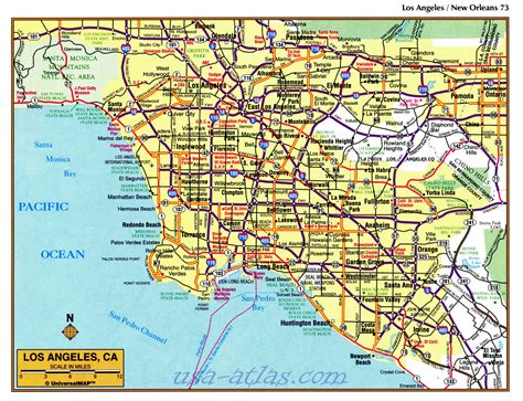 map los angeles map los angeles california indiana map