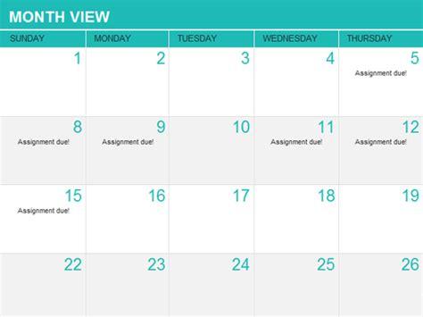 student calendar template student assignment planner office templates