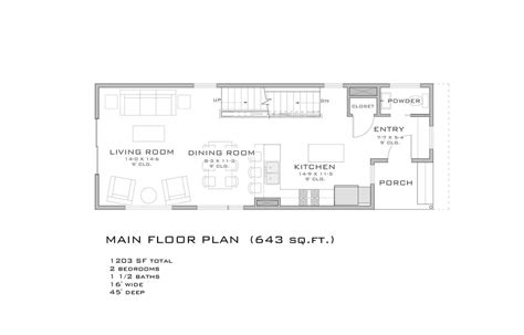 plans for a 25 by 25 foot two story garage modern style house plan 2 beds 1 5 baths 1203 sq ft plan 909 3