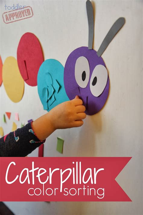 Toddler Approved Caterpillar Color Sorting Colour Activities For Preschoolers