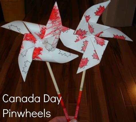 canadian crafts for 2 big 2 canada day pinwheels canada day