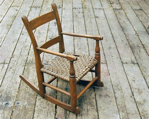 Vintage Child Rocking Chair by Vintage Child S Chair Rocking Chair Brown Oak By Calloohcallay