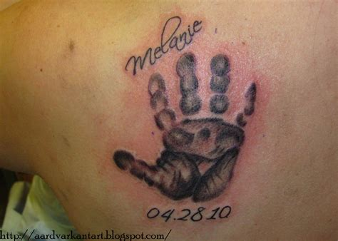 baby handprint tattoo designs my designs baby handprint tattoos