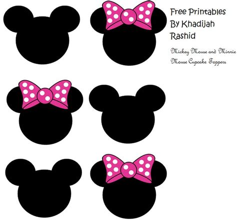 25 best ideas about minnie mouse cupcake toppers on