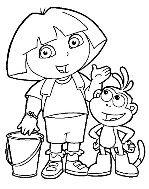 dora the explorer coloring pages team colors