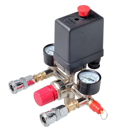 air compressor pressure switch valve manifold regulator w gauges relief 708624426342 ebay
