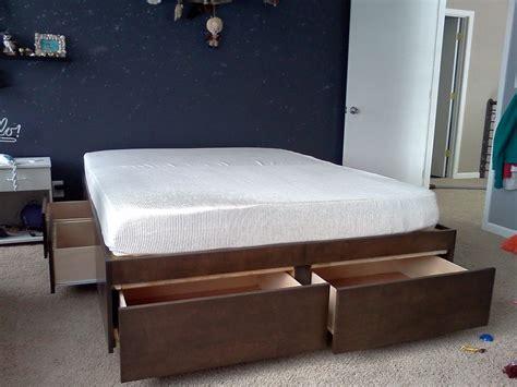 platform bed  drawers  steps  pictures