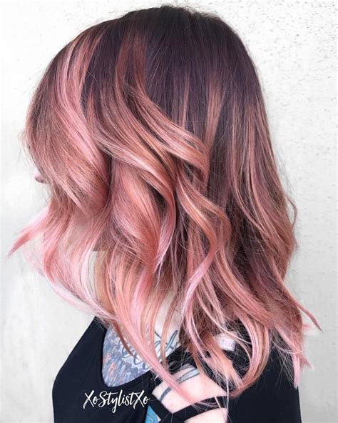 rose gold hair color stunning rose gold hair ideas of rose gold hair color for