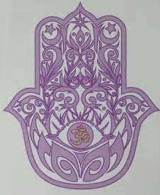 Lotus Hamsa Hamsa With Lotus And Om Symbol Quality Vinyl Decal