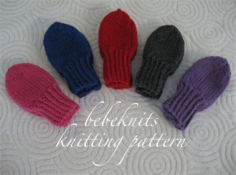 thumbless baby mittens knitting pattern bebeknits thumbless toddler mittens knitting pattern
