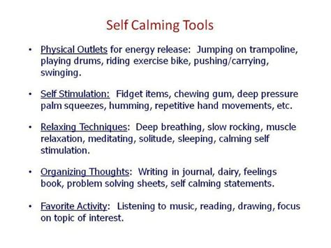 self comforting behaviors self calming tools quotes pinterest