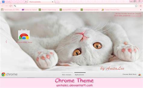 google themes white white kitten google chrome theme by anitalec on deviantart