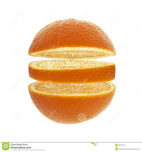 orange tranche fruit agrumes en coupe image stock