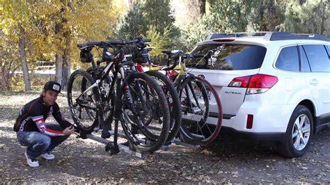 subaru  thule bike rack review youtube