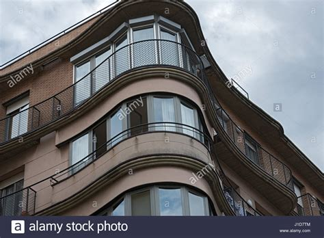 corner bay window closeup corner bay window and balcony detailes of building in stock photo royalty free image